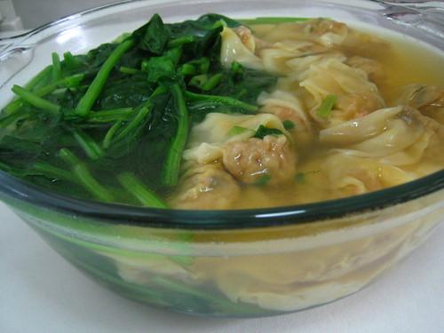 Spinach Dumpling Soup