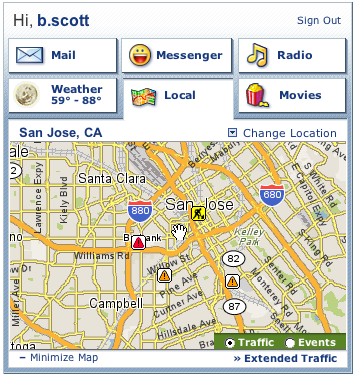 Personal assistant local map