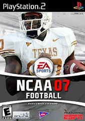 Vince Young on the cover of NCAA 07