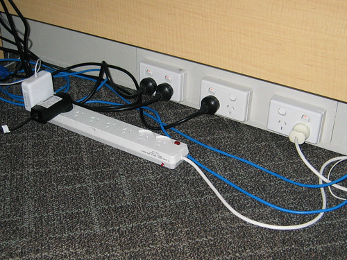 My protest against the low positioning of the power outlets