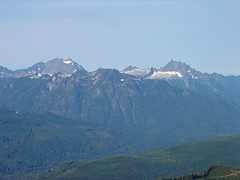 Looking Across To Three Fingers, Jumbo, And Whitehorse Mtn From Route To White Chuck Mtn