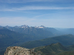 Three Fingers, Jumbo, White Horse Mtn, And Darrington From White Chuck Summit