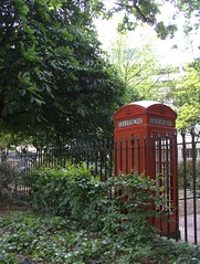 Old Red Phone Box by Brunswick Square
