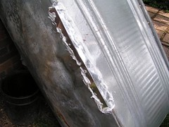 stock tank with patch repair