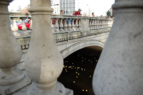 Ducks through the bridge