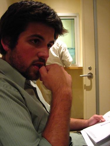 Husbear frets in the Italian Consulate
