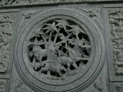 Detail of stone carving, Dalada Malagawa, Sri Lanka