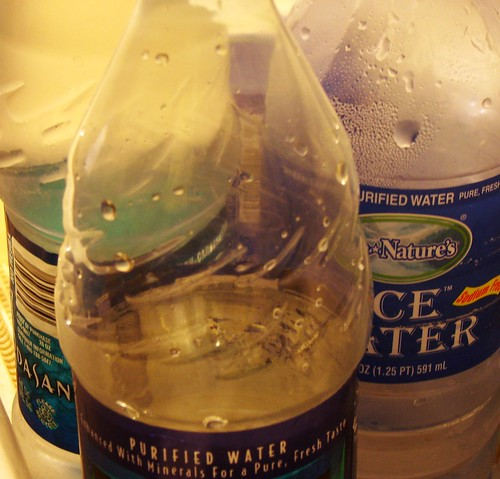 half empty bottles