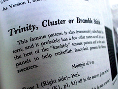 trinity stitch as explained by barbara walker