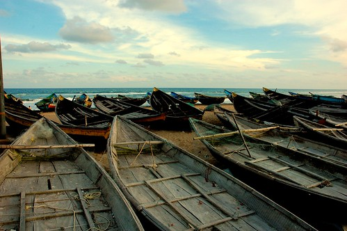 Boats in Puri, India.