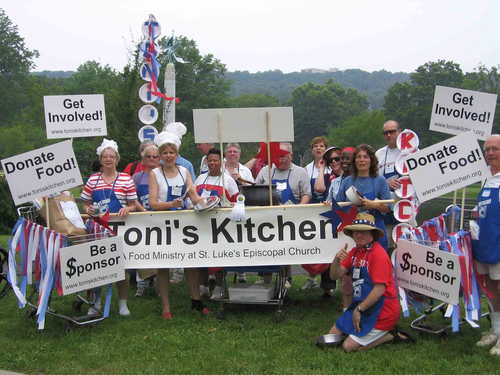 Toni's Kitchen food pantry marching unit