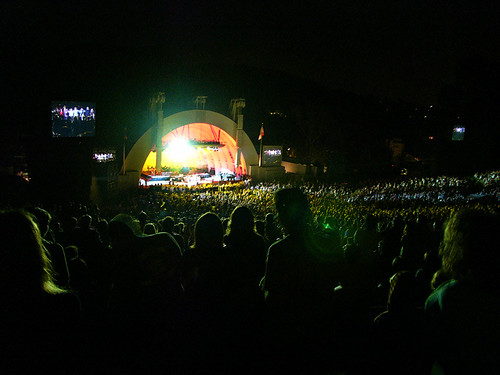belle + sebastian at the hollywood bowl