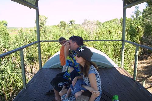 Bruce, Jennifer, Jasper @ Fogg Dam