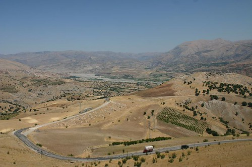 Sight from burial mound with mt. Nemrud to the right