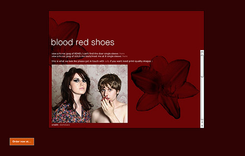 Blood Red Shoes Website