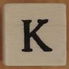 Stamp letter K