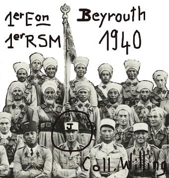 Beyrouth 1940 - Paul Jourdier et 1er esc. du 1er RMSM