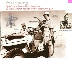 Spahis- 1942 - Capitaine de Courcel et général de Larminat
