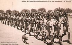 Défilé à Beyrouth - Musée de tradition des Fusiliers Marins - Col Aline Calippe