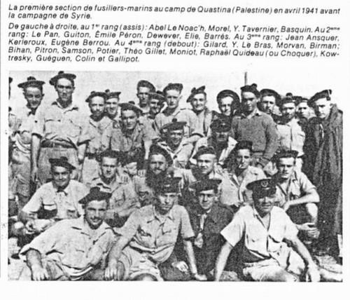 1941 - Camp de Qastina (Palestine- Le 1er BFM avant le départ pour la Syrie