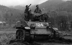 Vosges 1944 - Char light 124 du 1er RFM - Musée de l'Ordre de la Libération