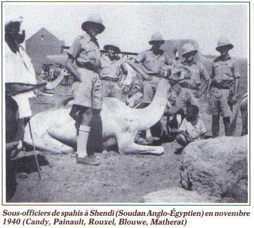 1940- soudan anglo-égyptien -Spahis-  Françaislibres.net