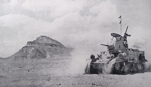 1942 - El Alamein - Char m3 stuartdevant l'Himeimat