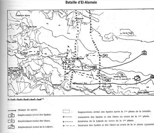 Carte El Alamein 1er RMSM