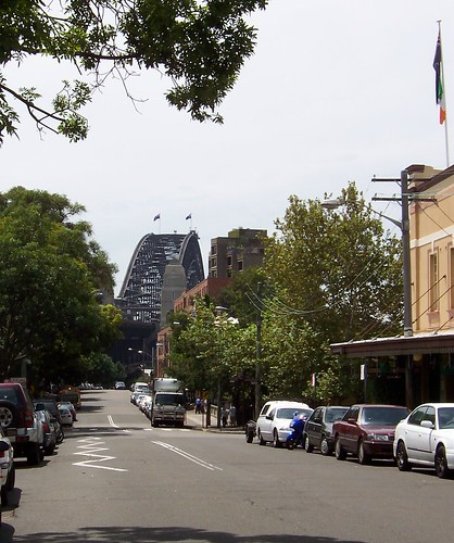 Sydney Harbour Bridge from Cumberland Street