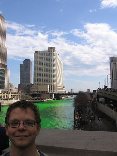 Me and the green Chicago River