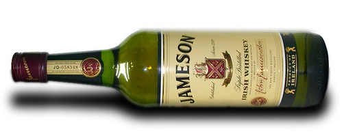 A bottle of Jameson's Irish Whiskey.
