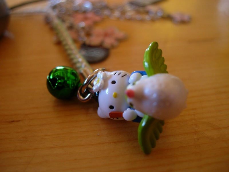 Blondi's hello kitty phone charm