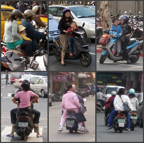 Child Passengers Wearing No Helmets