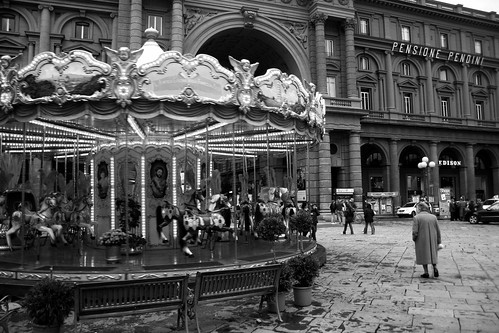 Merry-go-round in Florence
