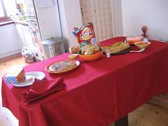 Los preparativos de la fiesta