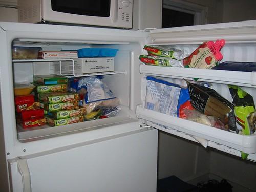 well stocked freezer