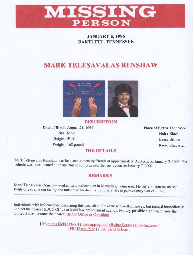 Renshaw Missing!