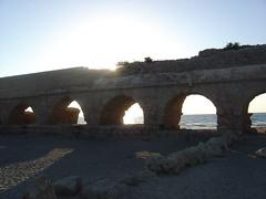 Aquaduct at Caesarea Maritima Israel