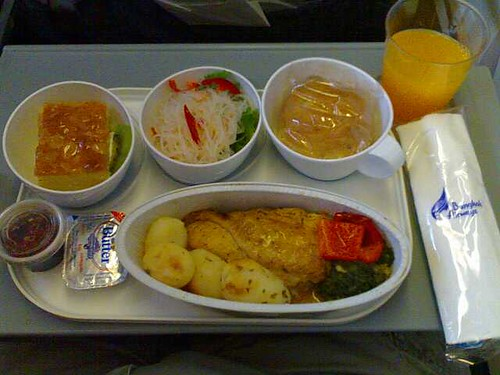 Chicken on Bangkok Airways