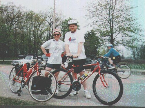 Donna and Dan on Bikes - circa 1998