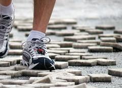 Laufschuhe eines Läufers