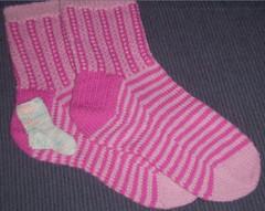 Pink Ladder Socks & a mini