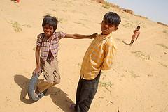 Village Kids 1, Jaisalmer, Rajasthan, India Captured April 12, 2006.
