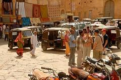 Rickshaw Haggling, Jaisalmer, Rajasthan, India Captured April 14, 2006.