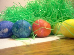 Easter Eggs and Grass