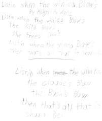 Abigail's Poem