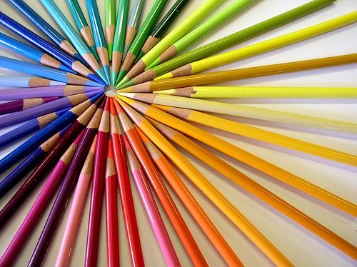 Diana de lápices de colores
