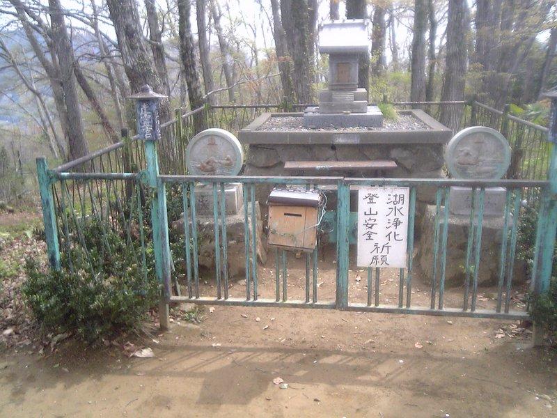 Close-up of the shrine