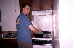 Erik cooking