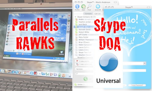Parallels RAWKS // Skype Universal DOA